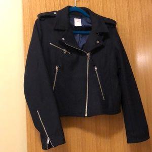 Gap Navy Wool Moto Jacket
